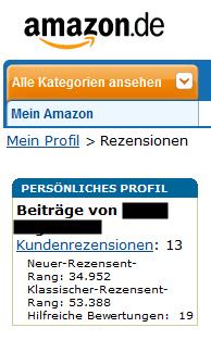 amazon mein profil