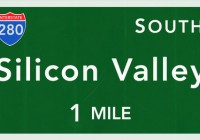 Silicon Valley USA Interstate Highway Sign Photorealistic Illustration