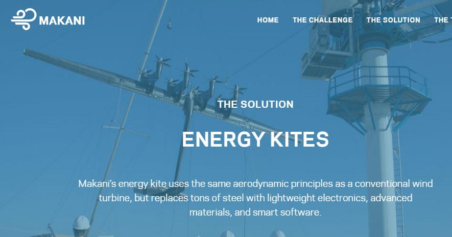 Beispiel für Ten X: Makani Energy Kites von Google. Quelle: http://www.google.com/makani/