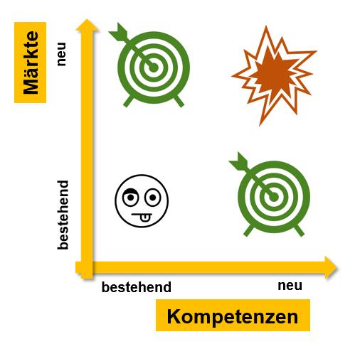 Markt Kompetenz Matrix - Suchfelder für neue Geschäftsideen